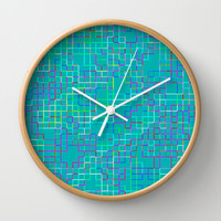 Re-Created SquaresXXXI  Wall Clock by Robert S. Lee