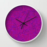Re-Created SquaresXXXII Wall Clock by Robert S. Lee