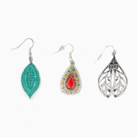 EPOXY TEARDROP EARRING TRIO
