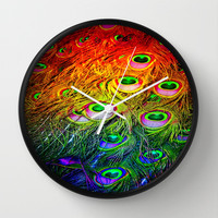 Rainbow Mutant Wall Clock by Intrinsic Journeys