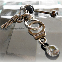 Gun Cuffs Belly Ring, Beach Wear, Hipster, Ready to Ship, Direct checkout