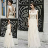 Source CYH-030 Inexpensive Short Sleeves Shiny Beaded Tulle Evening Gown&Evening Dresses on m.alibaba.com
