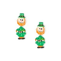St. Patrick's Day Leprechaun Front and Back Earrings | Claire's