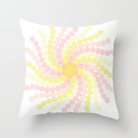 Spiral Circle Throw Pillow by fantasizereality