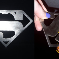 Superman Metal Bottle Opener, Superhero Bottle Opener, Custom Bottle Openers