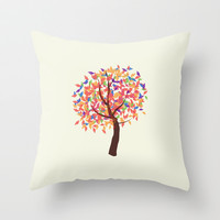 Tree Art Throw Pillow by fantasizereality
