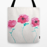 Asian Poppies Tote Bag by DuckyB (Brandi)