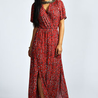 Jasmine Sequin Embellished Animal Maxi Dress