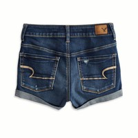 's Hi-rise Denim Shortie (Medium Wash)