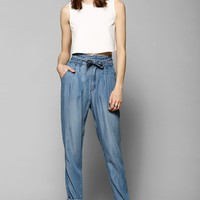 BDG Chambray Paper Bag Trouser Pant - Urban Outfitters