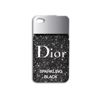 Nail Polish iPhone Case Cute iPod Case Gorgeous Phone Case iPhone 4 Case iPhone 5 iPhone 5s iPhone 4s Black iPod 4 Case Glitter iPod 5 Case