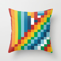 Fuzzline #4 Throw Pillow by Project M