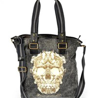 Just Cavalli Skull Print Men's Shoulder Bag
