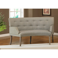 The Hilton Curved Graphite Loveseat