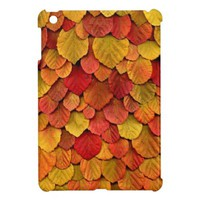 Autumn Leaf Pattern iPad Mini Cover