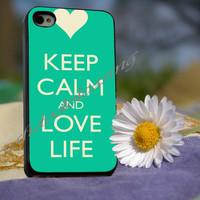 keep calm and love life Case For iPhone 4/4s, iPhone 5/5S/5C, Samsung S3 i9300, Samsung S4 i9500 *rafidodolcasing*