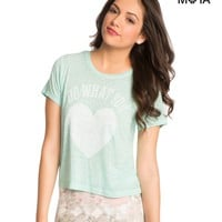 Sheer What You Love Graphic T