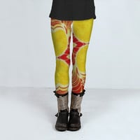 Grunge Hot Pattern by Daniel Ferreira-Leites (Leggings)