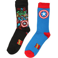 Marvel Avengers Captain America Crew Socks 2 Pack