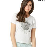 SUNFLOWER CROPPED GRAPHIC T