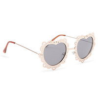 With Love From CA Lace Metal Heart Sunglasses at PacSun.com