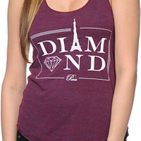 Diamond Supply Co. Paris Cranberry Tank Top