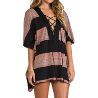 Blue Life Placket Caftan in Boho Stripe from REVOLVEclothing.com