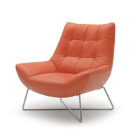 Groove Leather Lounge Chair