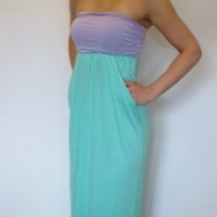 Lavender and Mint Pocket Maxi