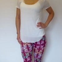 Magenta Pattern Leggings