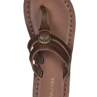 Ava slip on leather sandal