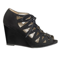 Lucy lace up wedge