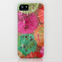 Parasols Tropical Punch iPhone & iPod Case by Lisa Argyropoulos