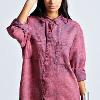 Ashley Acid Wash Oversized Shirt