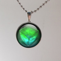 GlowPixel- Green - necklace, unique gift for her, cool gift for teen, easter gift, mother's day