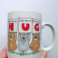 Vintage Give Me A Hug Coffee Mug 1988