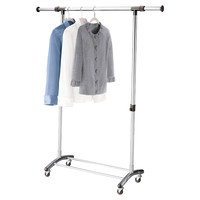 Brushed Chrome Garment Rack