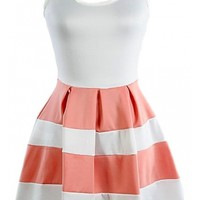 The Coral Colorblock Dress - 29 N Under