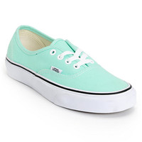 Vans Women's Authentic Beach Glass Mint Shoe
