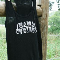 MAMA TRIED BLACK SLUB TANK - Junk GYpSy co.