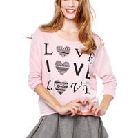 Papaya Clothing Online :: LOVE GRAPHIC TOP
