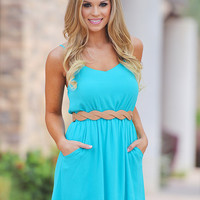 Everly Speak Your Mind Dress - Aqua
