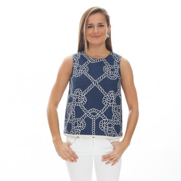 Nautical Ropes Meredith Top