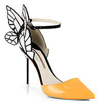 Sophia Webster - Clara Patent Leather Butterfly d'Orsay Pumps - Saks Fifth Avenue Mobile