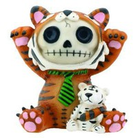 Brown Tigrrr With Small Tiger Furry Bones Collectible Statue Figurine