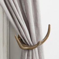 Magical Thinking Antler Curtain Tieback- Bronze One