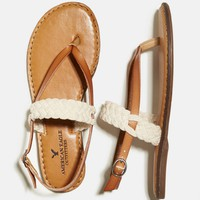 's Braided Slingback Sandal (Natural)