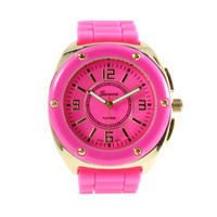 HOT PINK DOLL WATCH