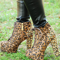 Take A Little Trip Booties: Leopard | Hope's