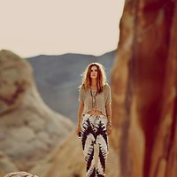 One Teaspoon for Free People Womens Desert Sun Tie Dye Harem -